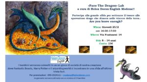 Laboratorio in inglese 'FACE THE DRAGON' @ Helen Doron English Modena - Laboratorio in presenza